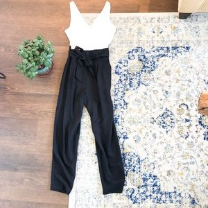 Black and White Jumpsuit Romper